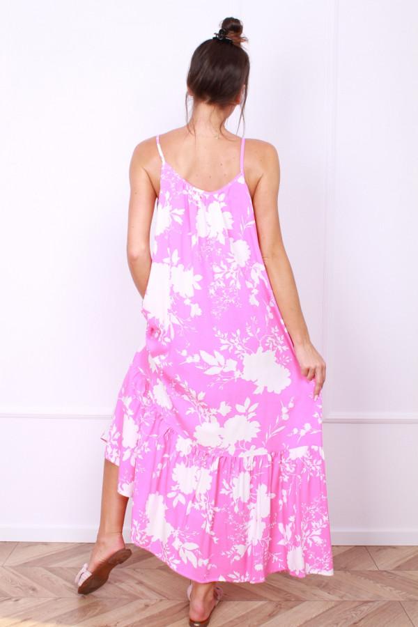 Sukienka w kwiaty na ramiączkach 2