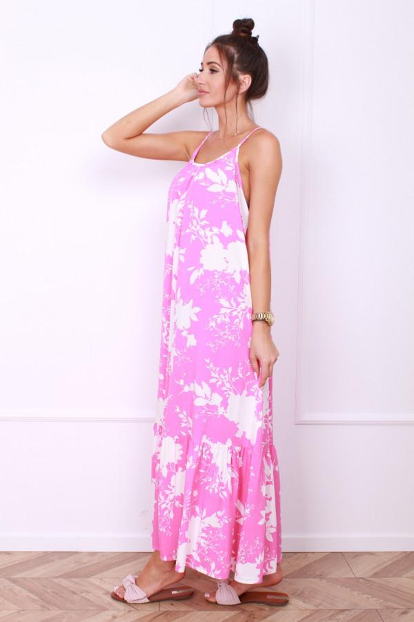 Sukienka w kwiaty na ramiączkach 1