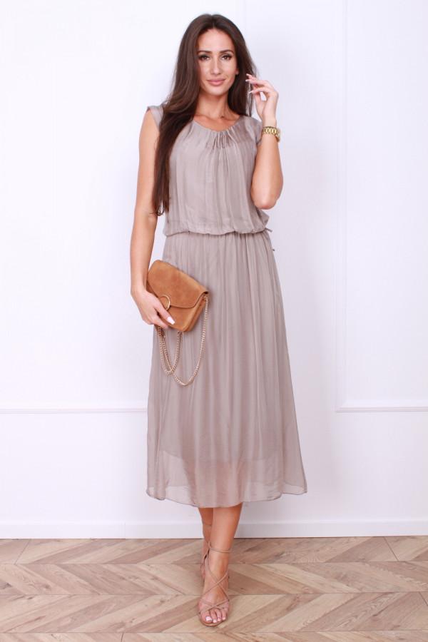 Sukienka gładka długa 5