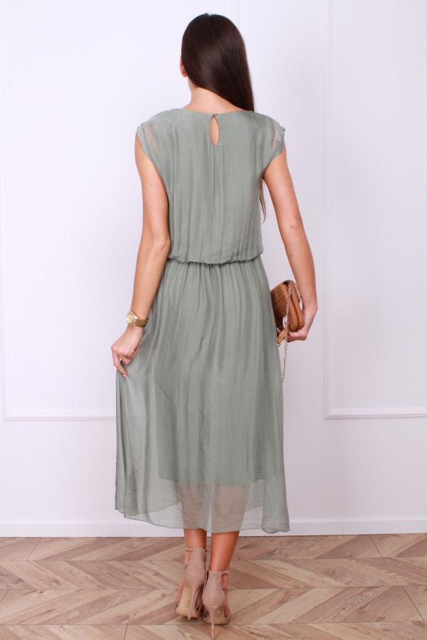 Sukienka gładka długa 2