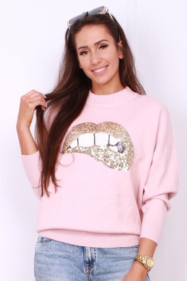 Sweter cekinowe usta 4