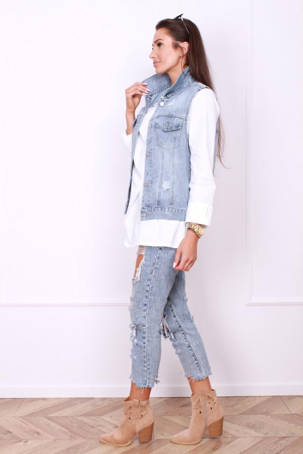 Jeansowa kamizelka 1