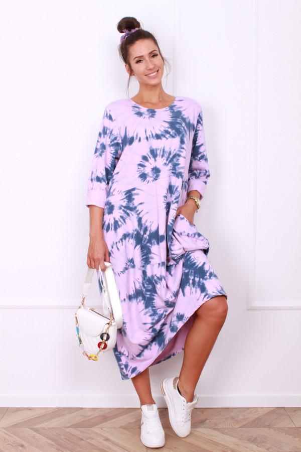 Długa sukienka dresowa