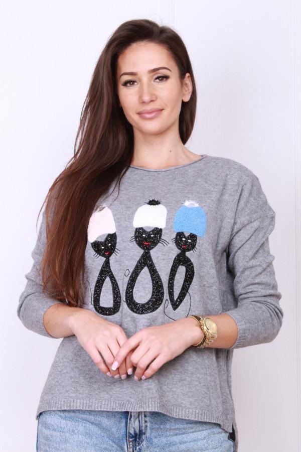 Sweter z kotami 3