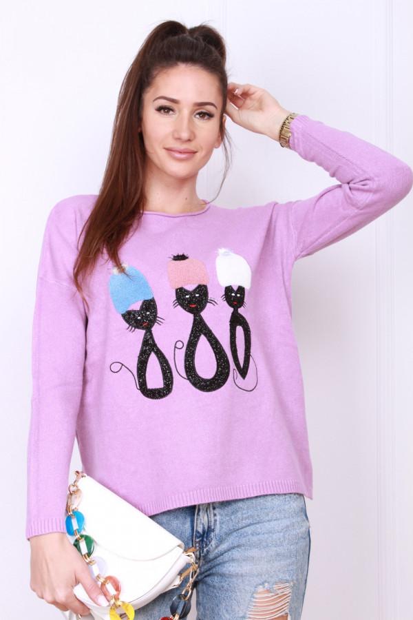 Sweter z kotami 5