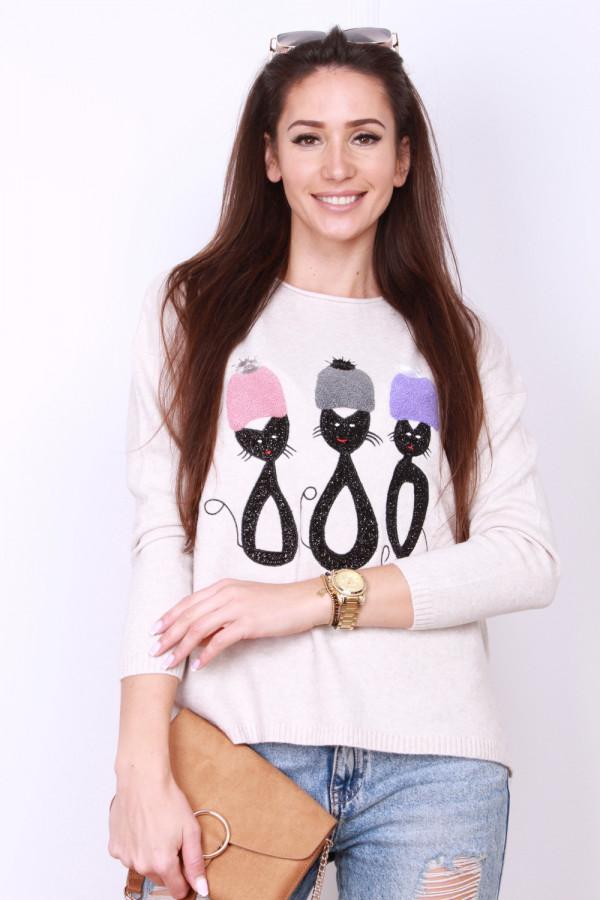 Sweter z kotami 8