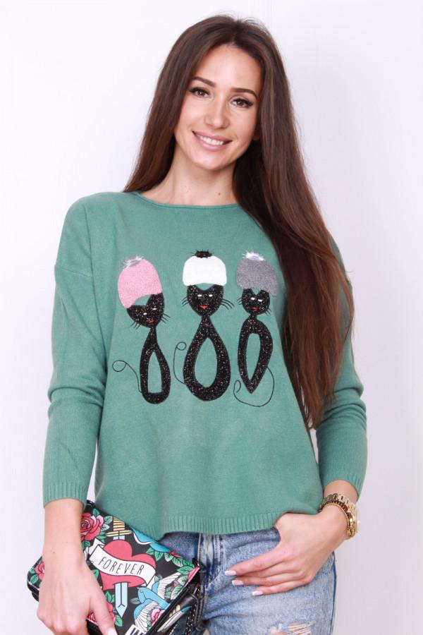 Sweter z kotami 9