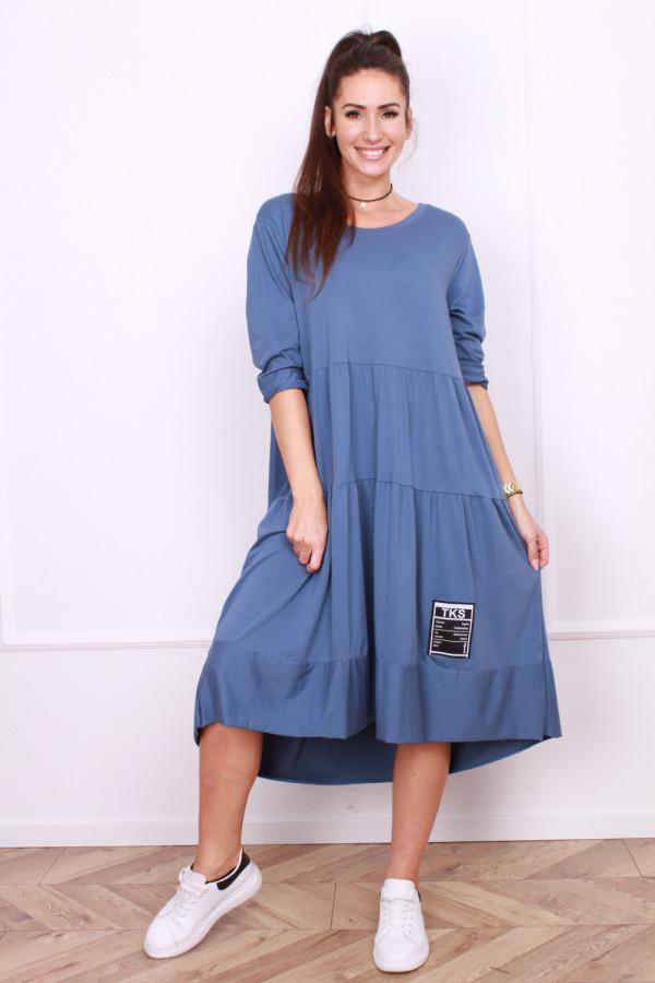 Długa sukienka z falbanami 3