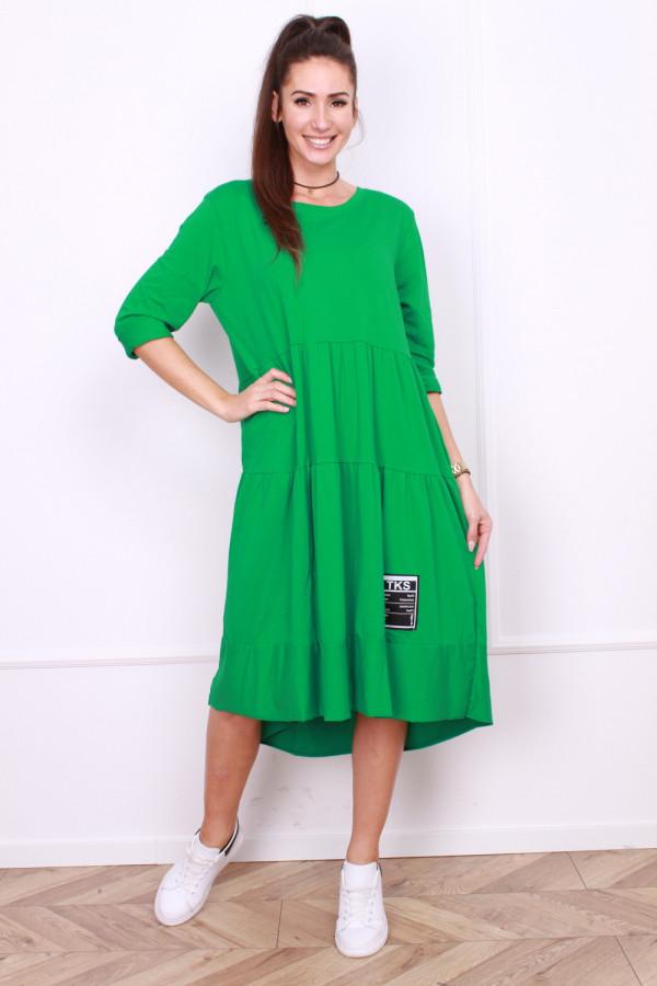 Długa sukienka z falbanami 4