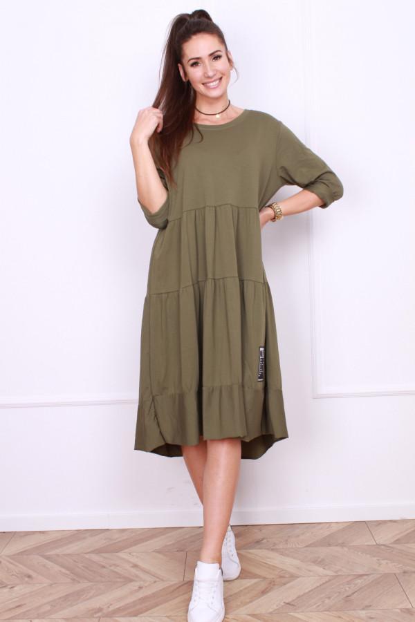 Długa sukienka z falbanami 6