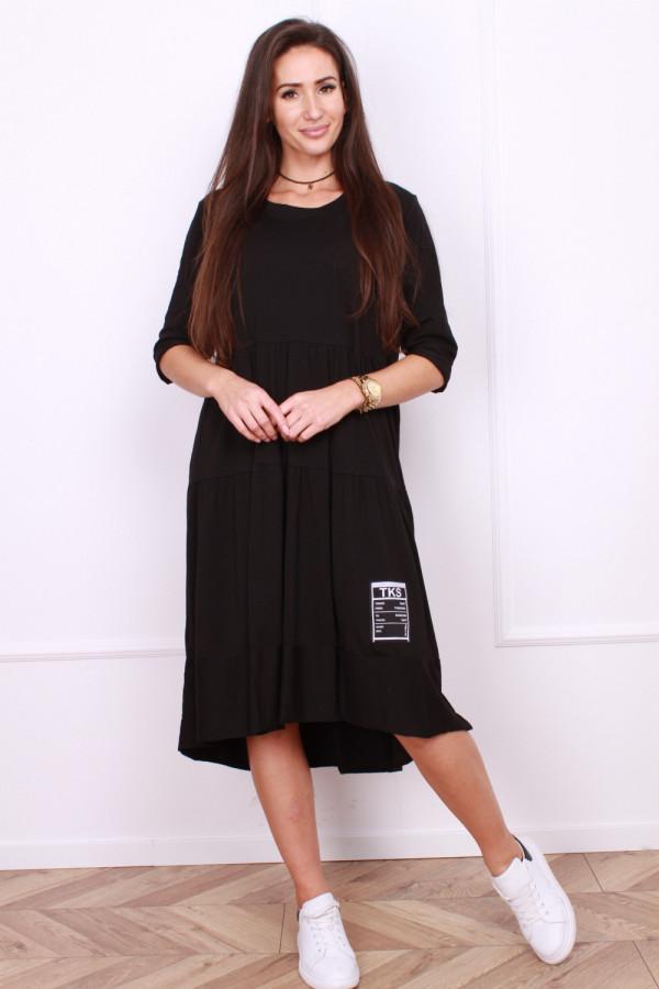 Długa sukienka z falbanami 7