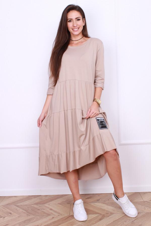 Długa sukienka z falbanami 8