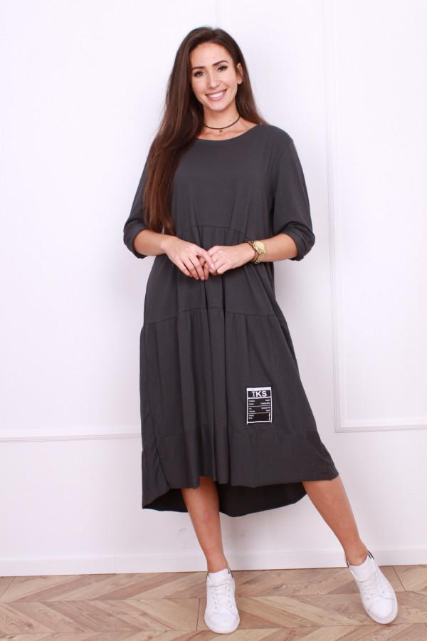 Długa sukienka z falbanami 9