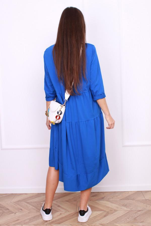 Długa sukienka z falbanami 2