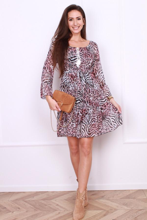 Sukienka w panterkę