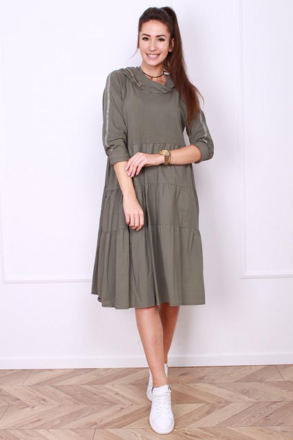 Sukienka bawełniana z kapturem