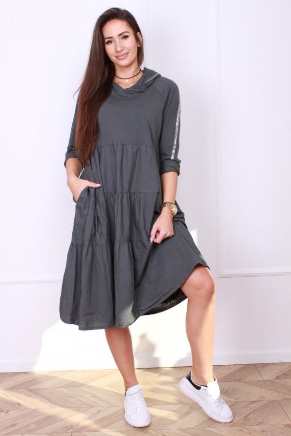 Sukienka bawełniana z kapturem 3
