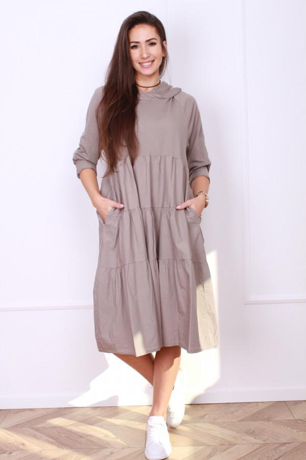 Sukienka bawełniana z kapturem 4