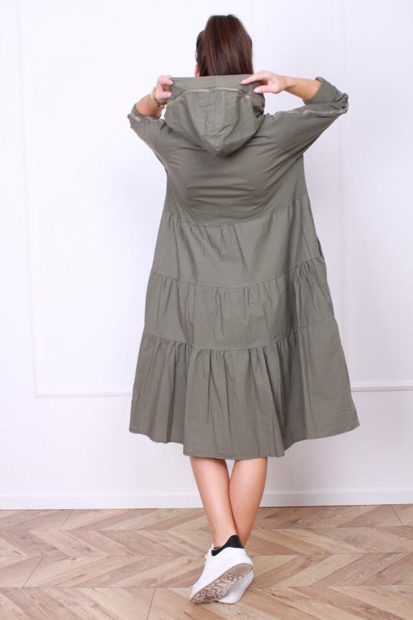 Sukienka bawełniana z kapturem 2