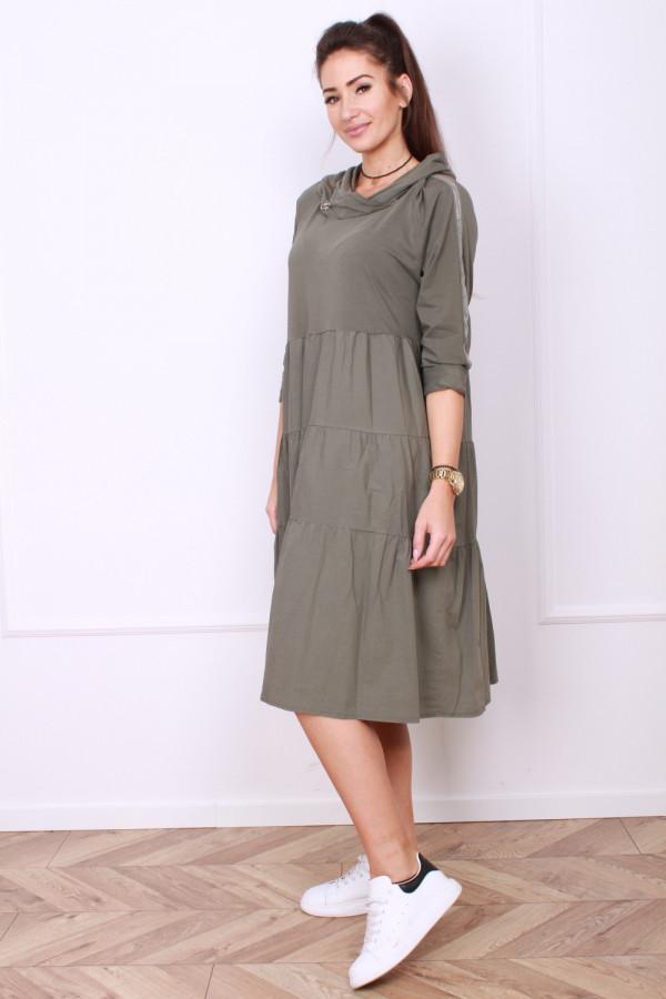 Sukienka bawełniana z kapturem 1