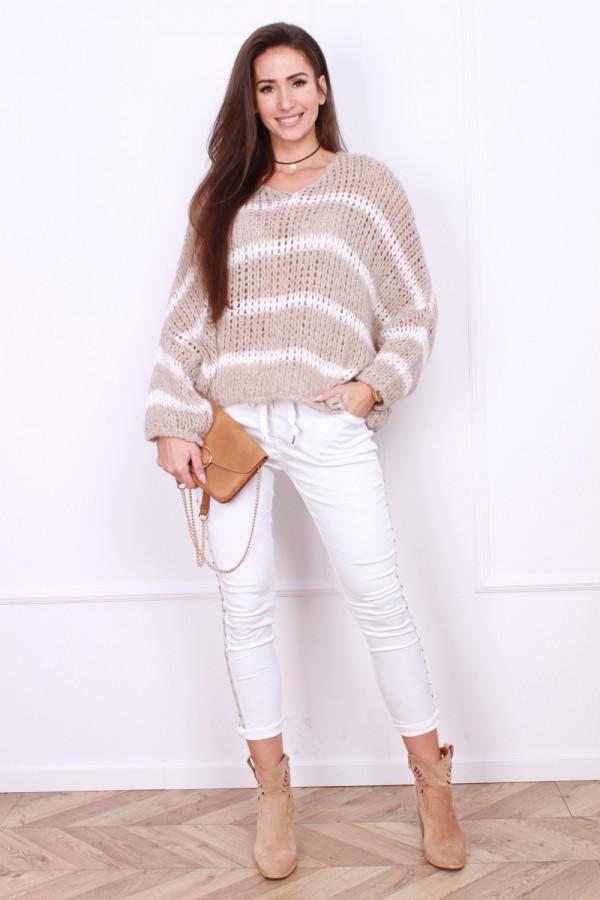 Sweter luźny w paski