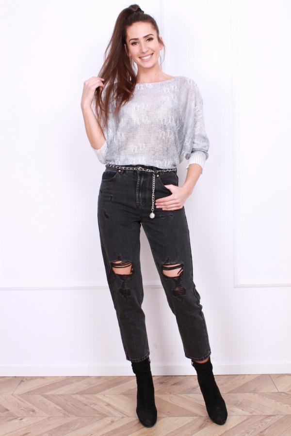 Spodnie jeansowe szerokie