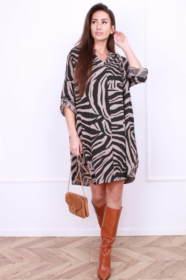 Sukienka midi Zebra