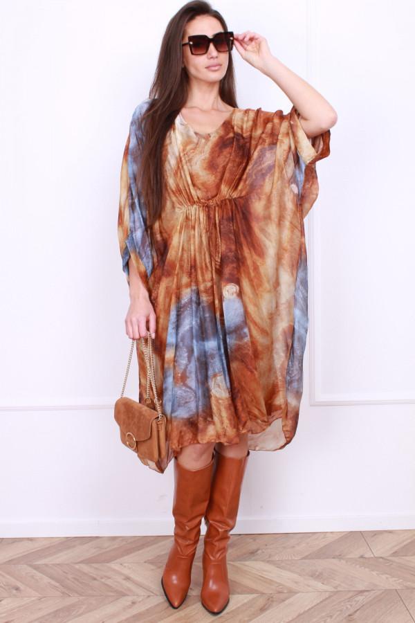 Sukienka długa z jedwabiem