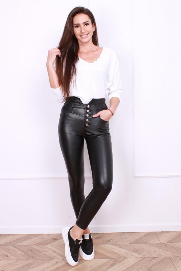 Spodnie czarne Leather
