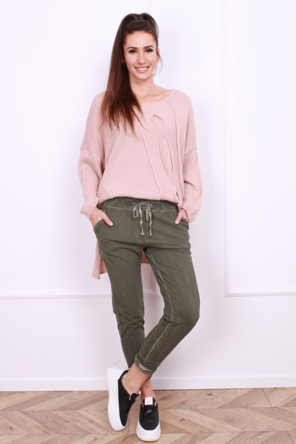 Spodnie bawełniane długie