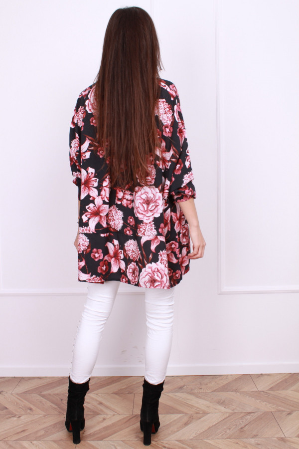 Szeroka bluzka w kwiaty 2