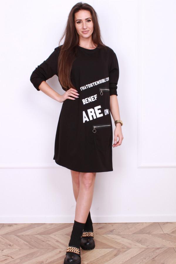 Sukienka czarna midi