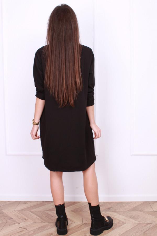 Sukienka czarna midi 2