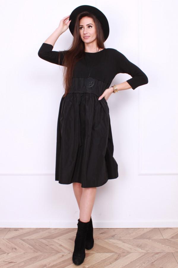 Sukienka Black z falbaną