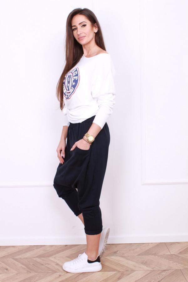 Spodnie z szerokim krokiem 1