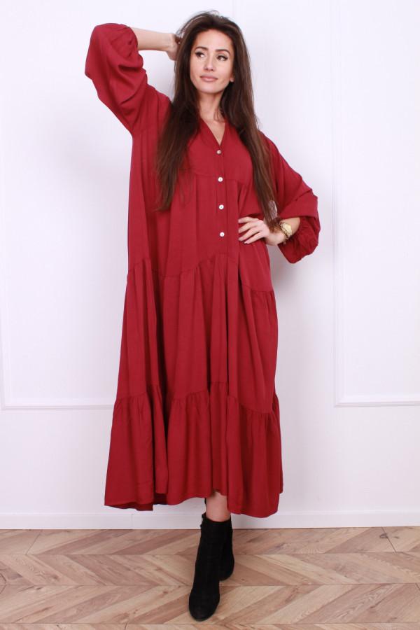 Sukienka długa z falbanami 3
