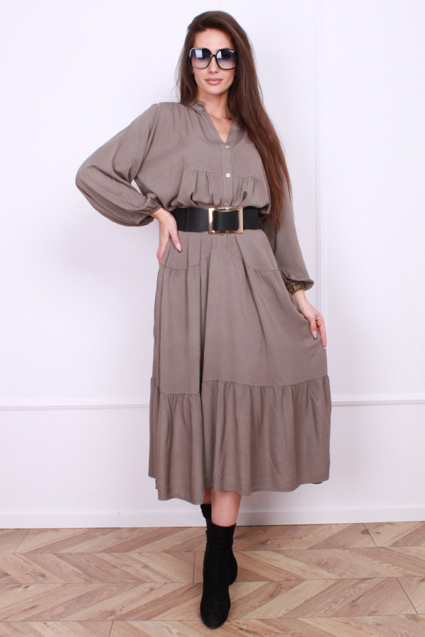 Sukienka długa z falbanami 4