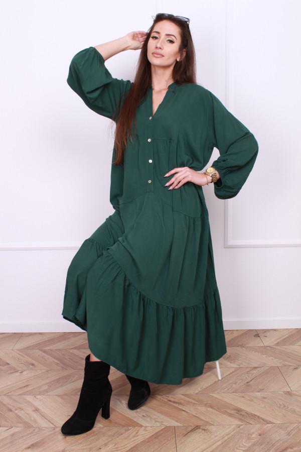 Sukienka długa z falbanami 5