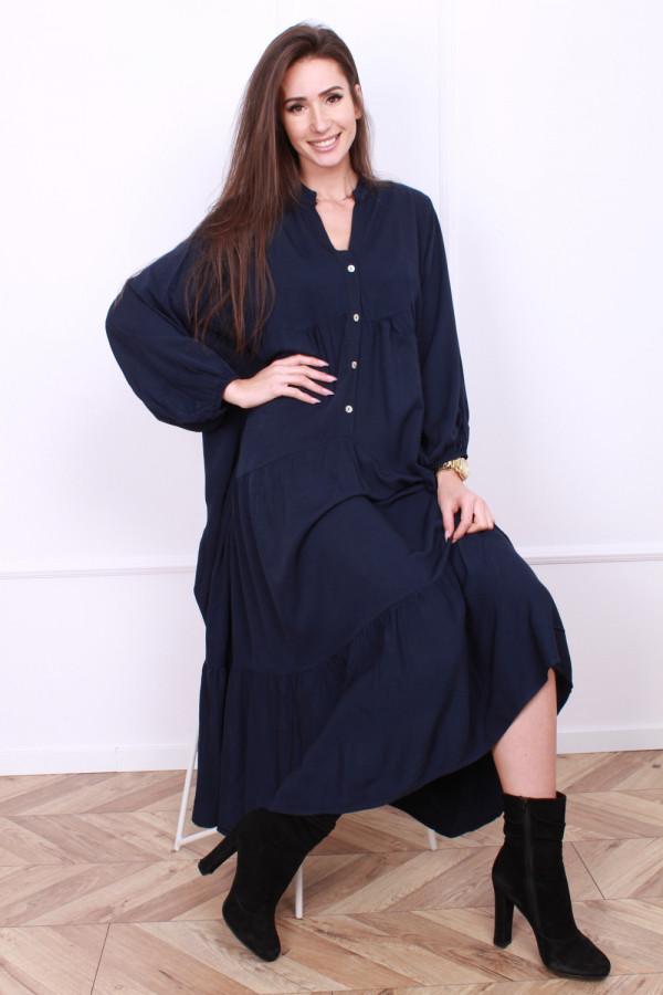 Sukienka długa z falbanami 6