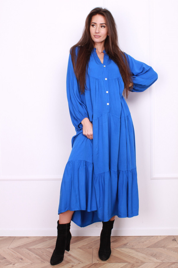 Sukienka długa z falbanami 7