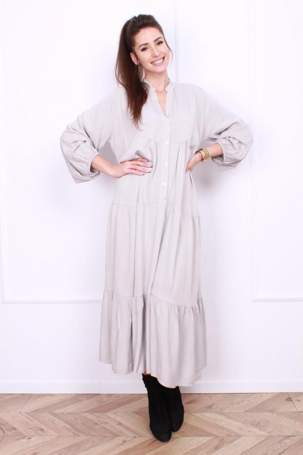Sukienka długa z falbanami 9