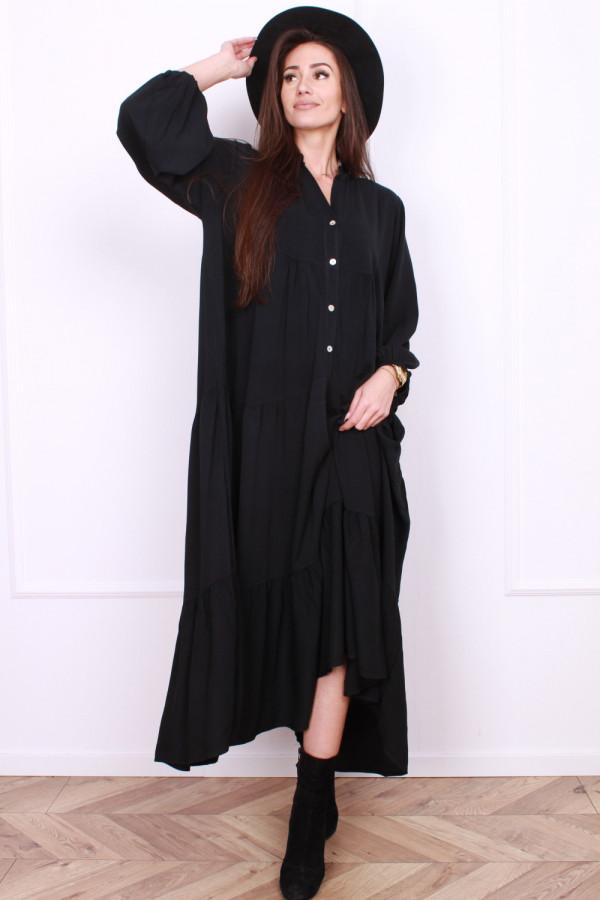 Sukienka długa z falbanami 10