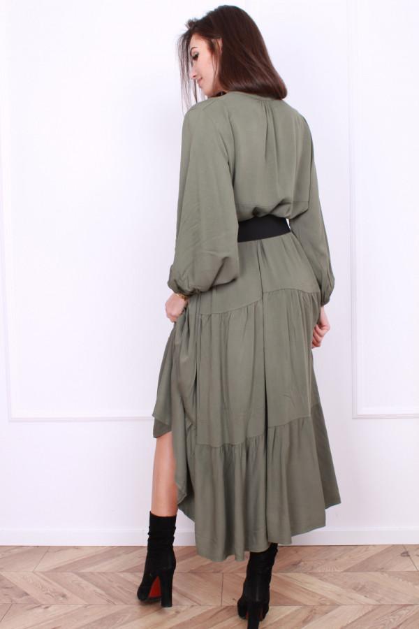 Sukienka długa z falbanami 2