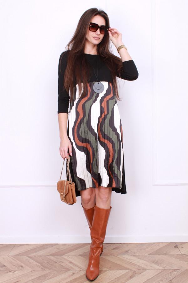 Sukienka plisowana z przodu 3
