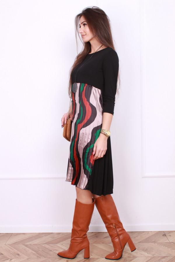 Sukienka plisowana z przodu 1
