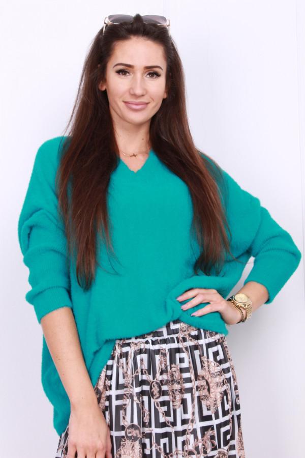 Sweter szeroki pluszowy 4