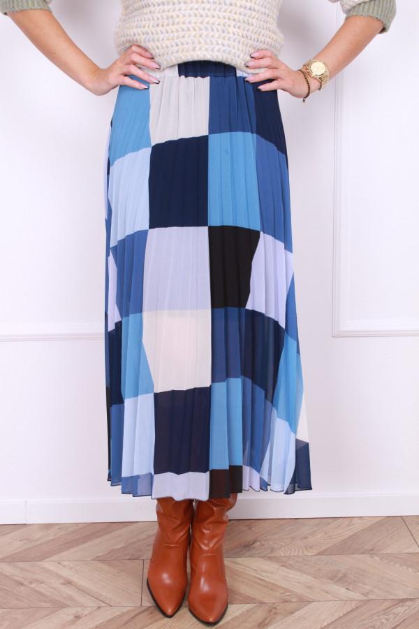 Plisowana spódnica w kwadraty 4
