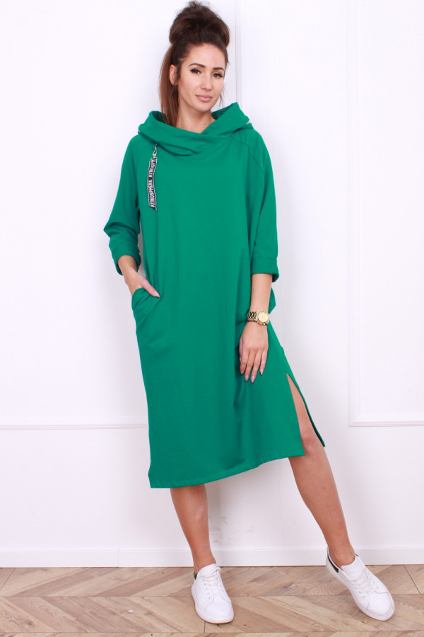 Sukienka długa z kapturem