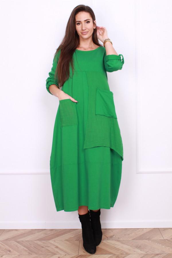 Sukienka bawełniana z kieszeniami 6