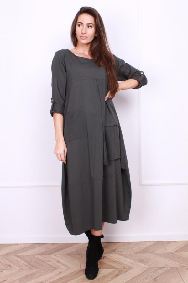 Sukienka bawełniana z kieszeniami 8